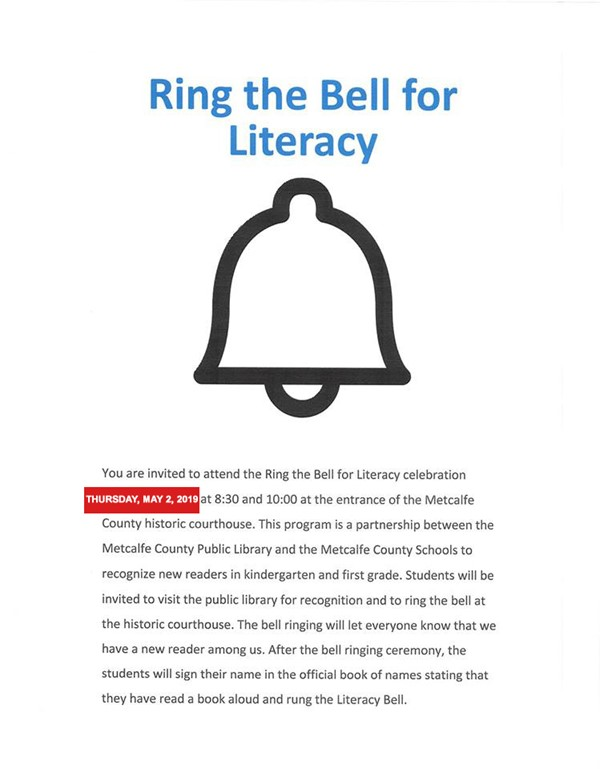 Ring the Bell for Literacy