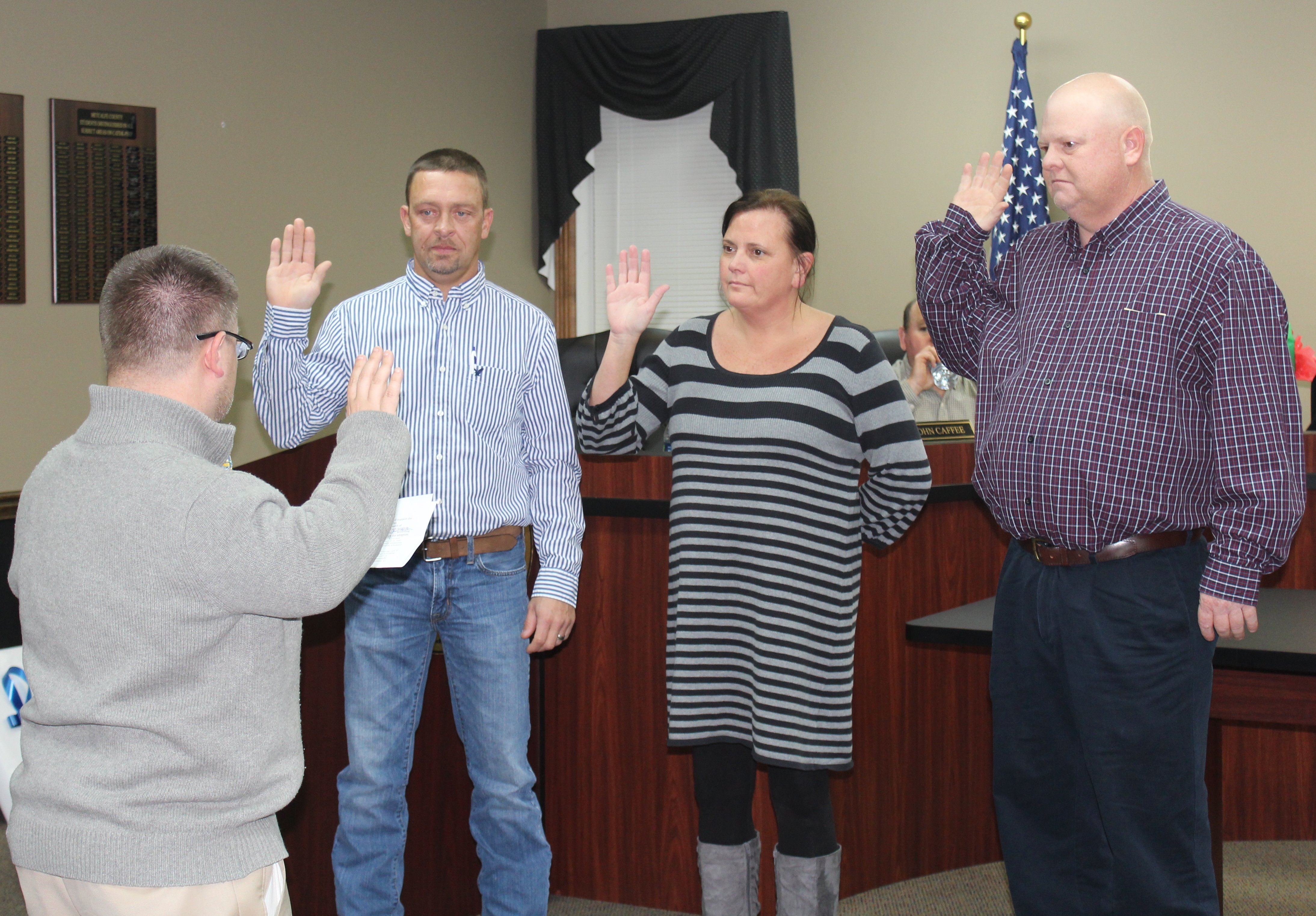 Swearing In of Re-Elected Board Members