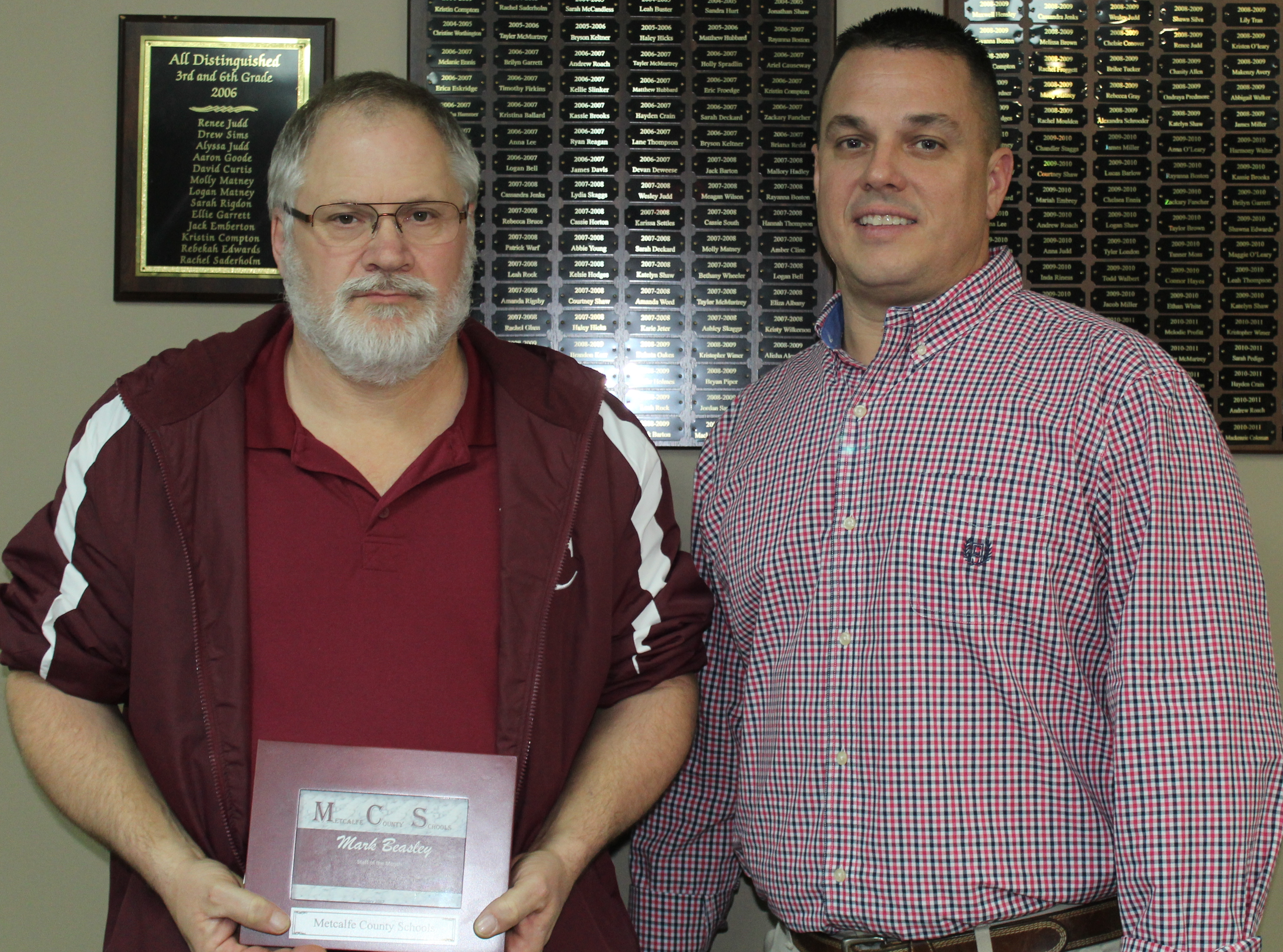 Mark Beasley Recognized as Classified Staff of the Month